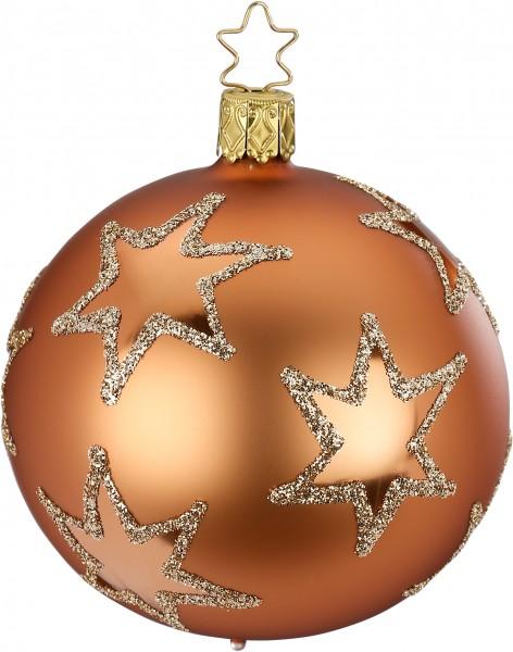 Inge's Christmas Decor Kugel 10cm Ris.Star toffee INGE'S CHRISTMAS