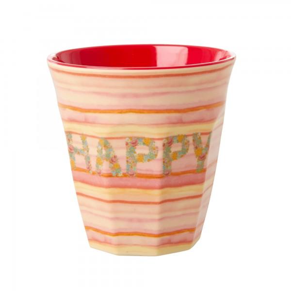 Rice Becher 9cm Happy Pink Print