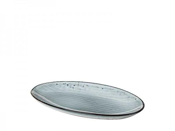 Broste Copenhagen Platte oval 13,6x22cm NORDIC SEA