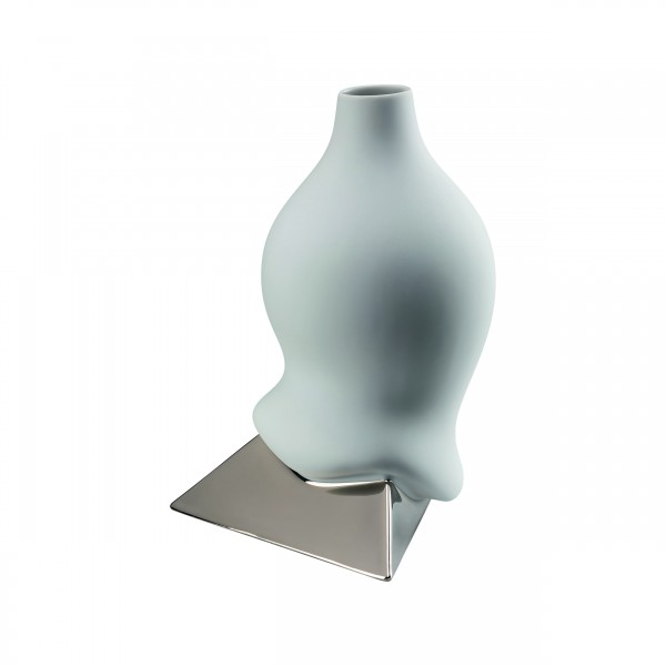 Rosenthal Vase 28cm SIROP PLATIN TITANISIERT
