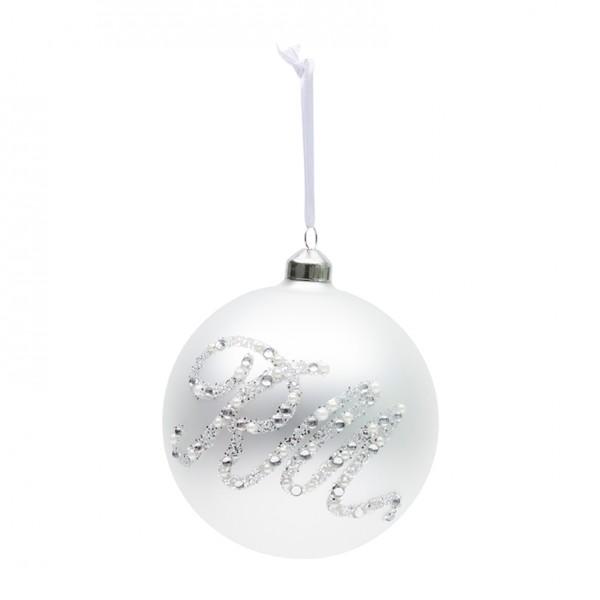 Rivièra Maison Ornament 12cm weiß Glittering RIVIERA MAISON
