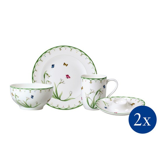 Villeroy & Boch Breakfast for two 8tlg. COLOURFUL SPRING