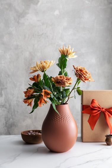 Villeroy & Boch Vase Perle hoch 16x16x20 MANUFACTURE COLLIER TERRE