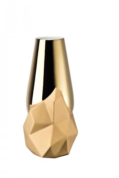 Rosenthal Vase Geode Gold titanisiert 27cm