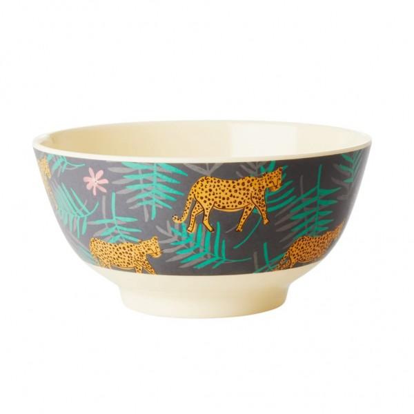 Rice Bowl 15cm Leopard&Leaves