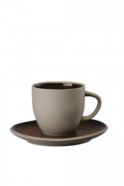 Rosenthal Kaffeetasse 2tlg. JUNTO BRONZE