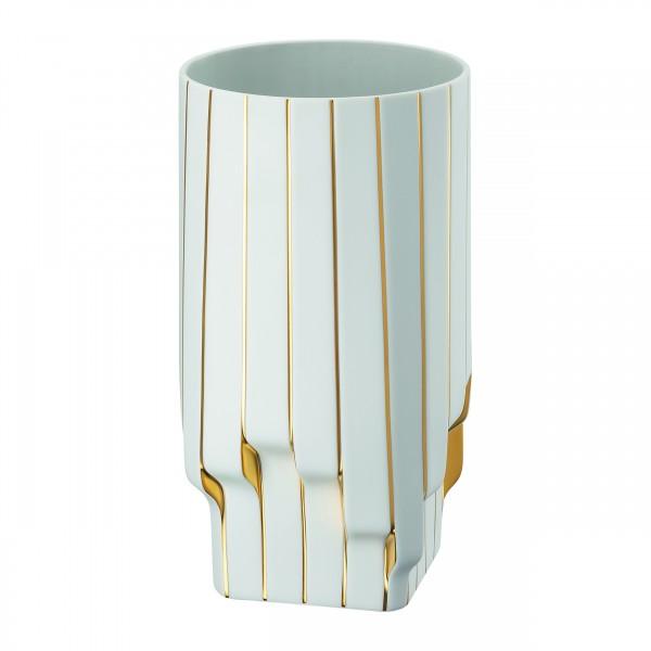 Rosenthal Vase 30cm STRIP WHITE-GOLD