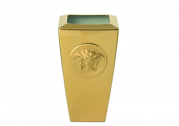 Rosenthal Vase 24cm VERSACE MEDUSA GOLD