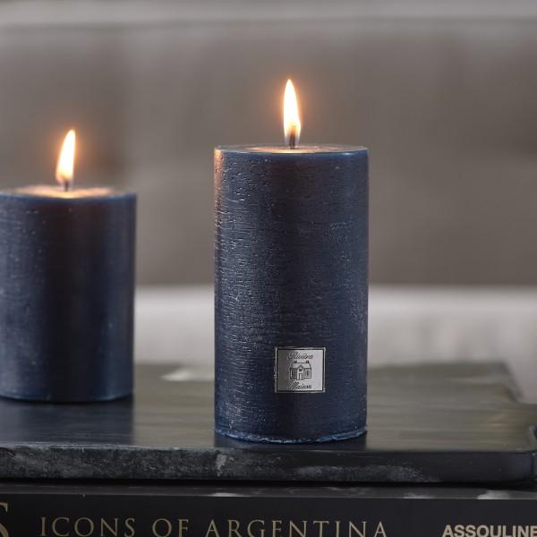 Rivièra Maison Rustic Candle dress blue 7x13 RIVIERA MAISON