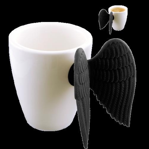 """Pylones Espressotasse """"Angel"""" (schwarz)"""