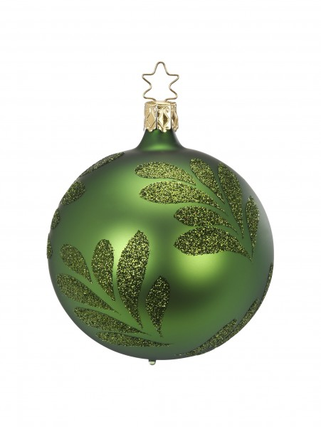 Inge's Christmas Decor Kugel 6cm Magic Leaf grün matt INGE'S CHRISTMAS