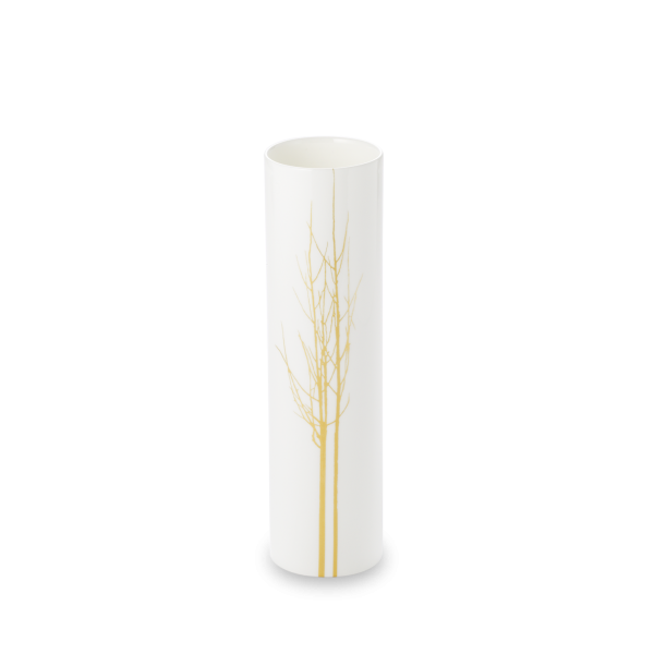 Dibbern Vase zyl. 21cm GOLDEN FOREST