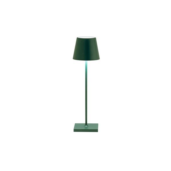 Zafferano Tischlampe d.grün 11,1x38cm POLDINA