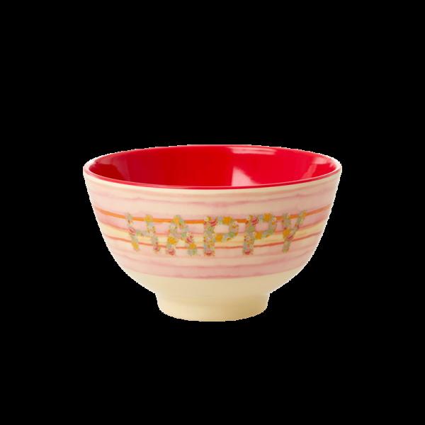 Rice Schale 11cm Happy Pink Print