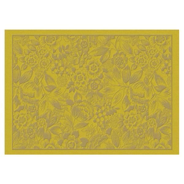 Le Jacquard Francais Set 50x36 Pollen BW beschichtet OSMOSE FLORALE