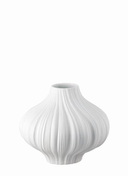 Rosenthal Vase 26cm PLISSEE WEISS MATT
