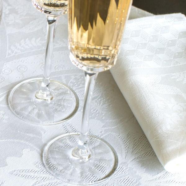 Le Jacquard Francais Serviette 58x58 Blanc DUCHESSE