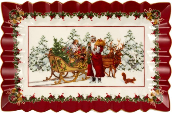 Villeroy & Boch Kuchenplatte eckig Santa mit Schlitten TOYS FANTASY