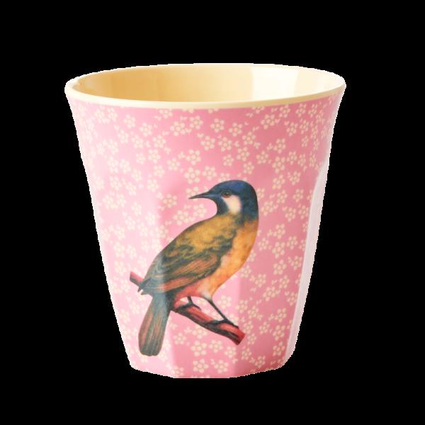 Rice Becher 9cm Vintage Bird pink