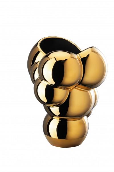 Rosenthal Vase 26cm SKUM gold titanisiert