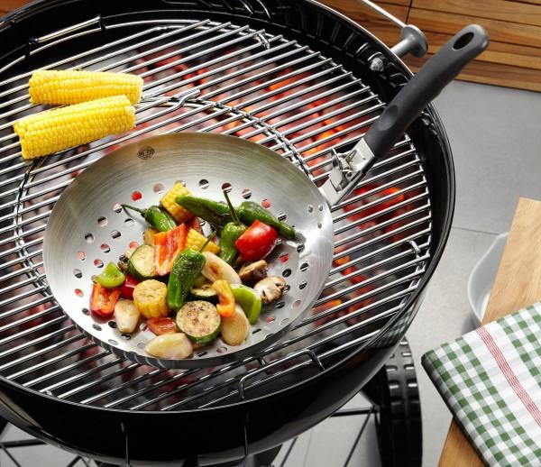 GEFU Gemüsewok BBQ mit abnehmbarem Griff