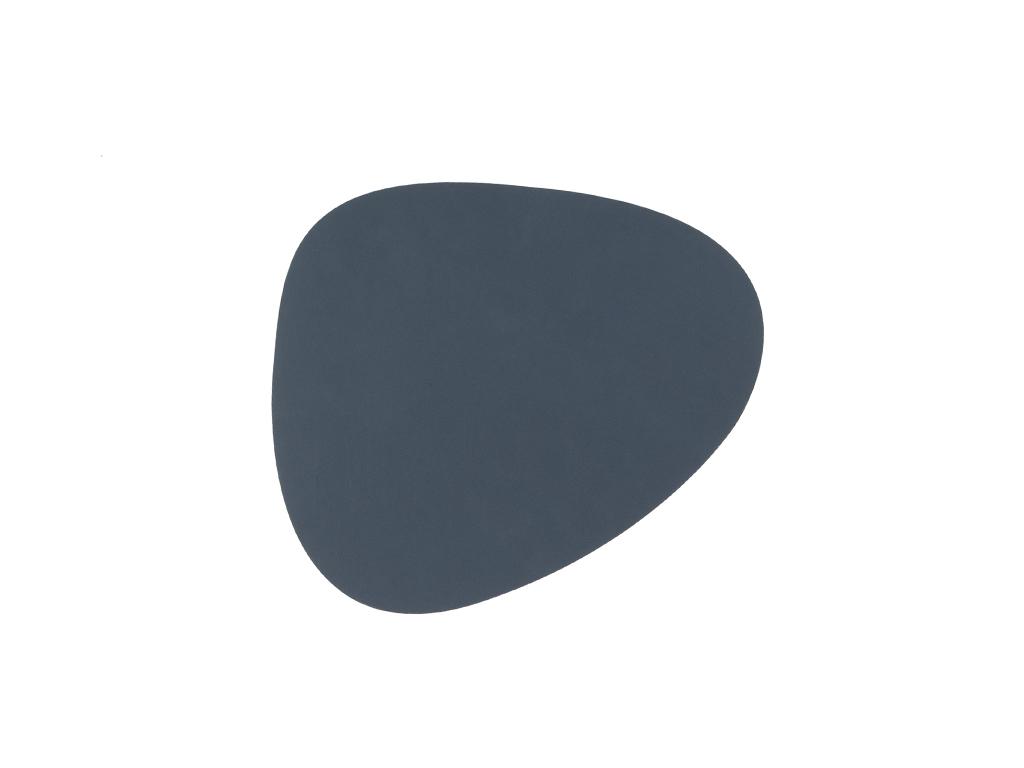 Untersetzer curve 11x13cm DOUBLE blau grau