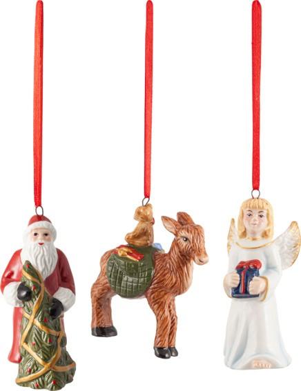 Villeroy & Boch Ornament Santa, Christkind, Reh 3tlg. NOSTALGIC ORNAMENTS