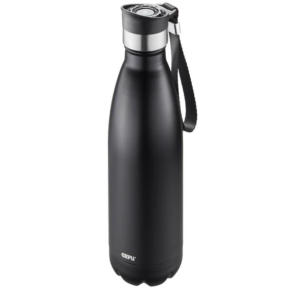 GEFU Thermoflasche 0,75L schwarz Olimpio
