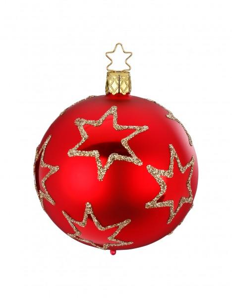 Inge's Christmas Decor Kugel 8cm Rising Star rot matt INGE'S CHRISTMAS