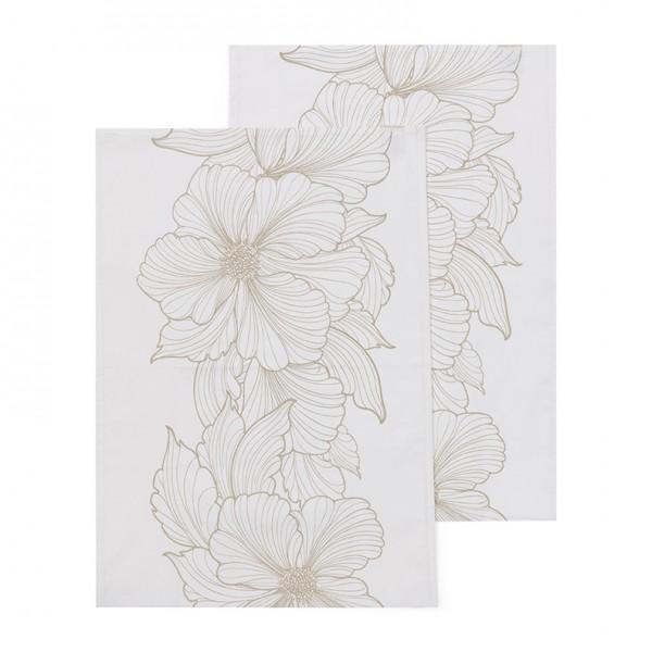 Rivièra Maison Tischläufer 2er Les Fleurs RIVIERA MAISON 150 x 50