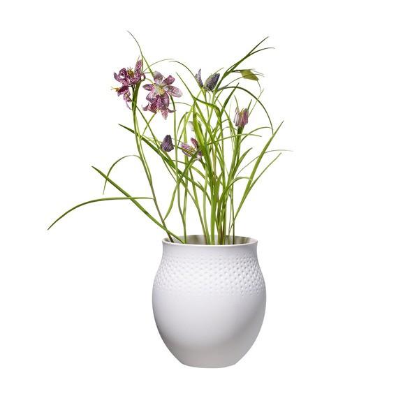 Villeroy & Boch Vase Perle groß 16,5x16,5x17,5 COLLIER BLANC