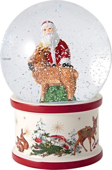 Villeroy & Boch Schneekugel groß Santa mit Hirsch CHRISTMAS TOYS