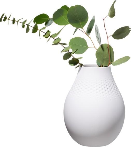 Villeroy & Boch Vase Perle hoch 16x16x20 COLLIER BLANC