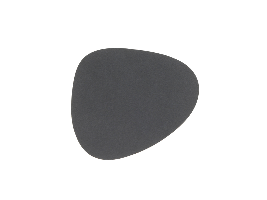 Untersetzer curve 11x13cm DOUBLE anthrazit grau