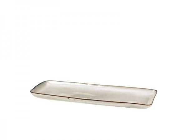 Broste Copenhagen Platte eckig 12,5x35cm NORDIC SAND