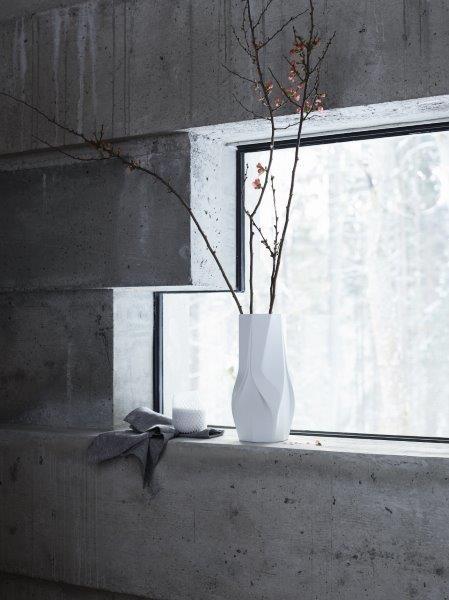Rosenthal Vase 35cm WEAVE WHITE