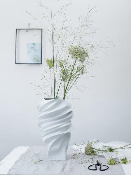 Rosenthal Vase 32 weiß glasiert SQUALL