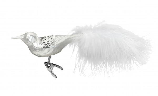 Inge's Christmas Decor Silver Bird 11cm silber+weiß INGE'S CHRISTMAS