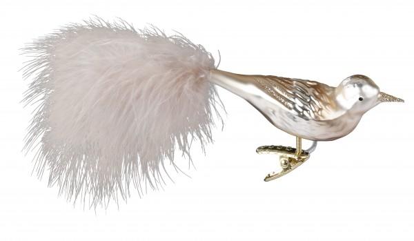 Inge's Christmas Decor Champagne Bird 11cm matt INGE'S CHRISTMAS