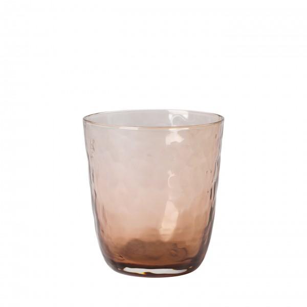 Broste Copenhagen Trinkglas 0,33L braun HAMMERED