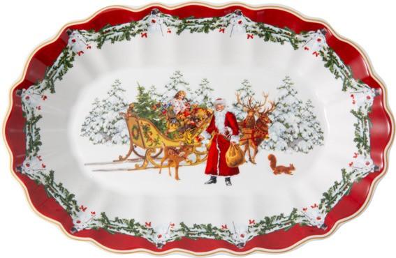 Villeroy & Boch Schale oval groß Santa mit Schlitten TOYS FANTASY