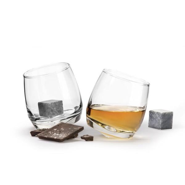 Whiskeygläser (2er Set inkl. Whiskey-Steine)