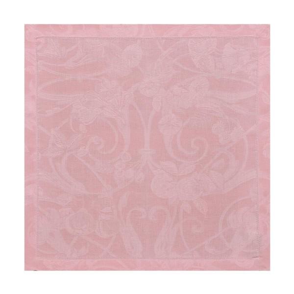 Le Jacquard Francais Serviette 50x50 TIVOLI ROSE POUDRE LINEN
