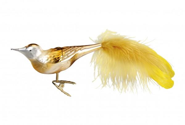 Inge's Christmas Decor Golden Bird 11cm INGE'S CHRISTMAS