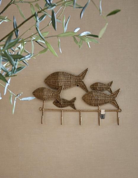 Rivièra Maison Garderobe Happy Fish RUSTIC RATTAN 50 x 4.5 x 32.5