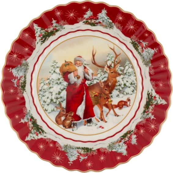 Villeroy & Boch Schale groß Santa mit Waldtieren TOYS FANTASY