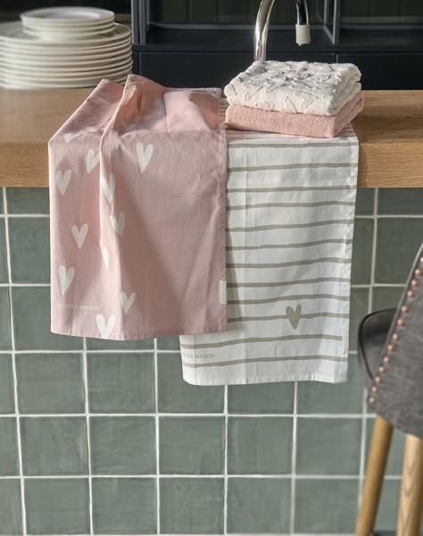 Rivièra Maison Tea Towel 2er Lots Of Love RIVIERA MAISON 50 x 70