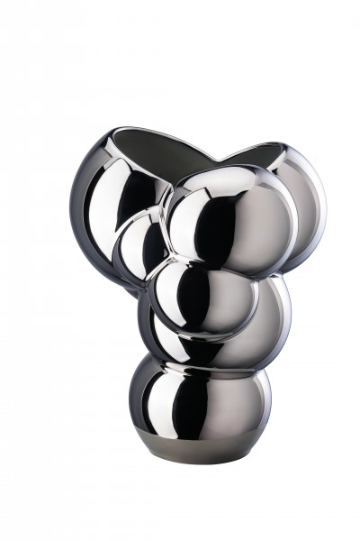 Rosenthal Vase 26cm SKUM platin titanisiert
