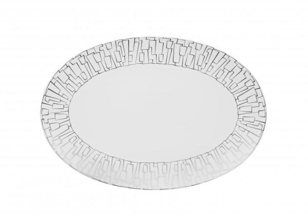 Rosenthal Platte 38cm TAC GROPIUS SKIN PLATIN
