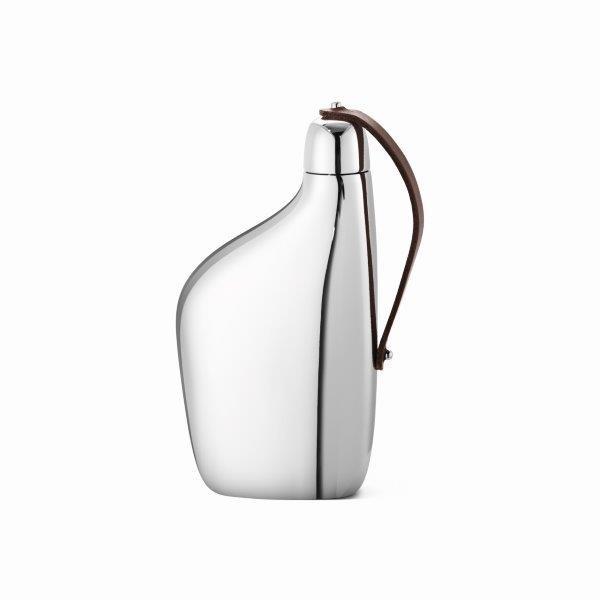 Georg Jensen Flachmann Mirror+Leather SKY JENSEN